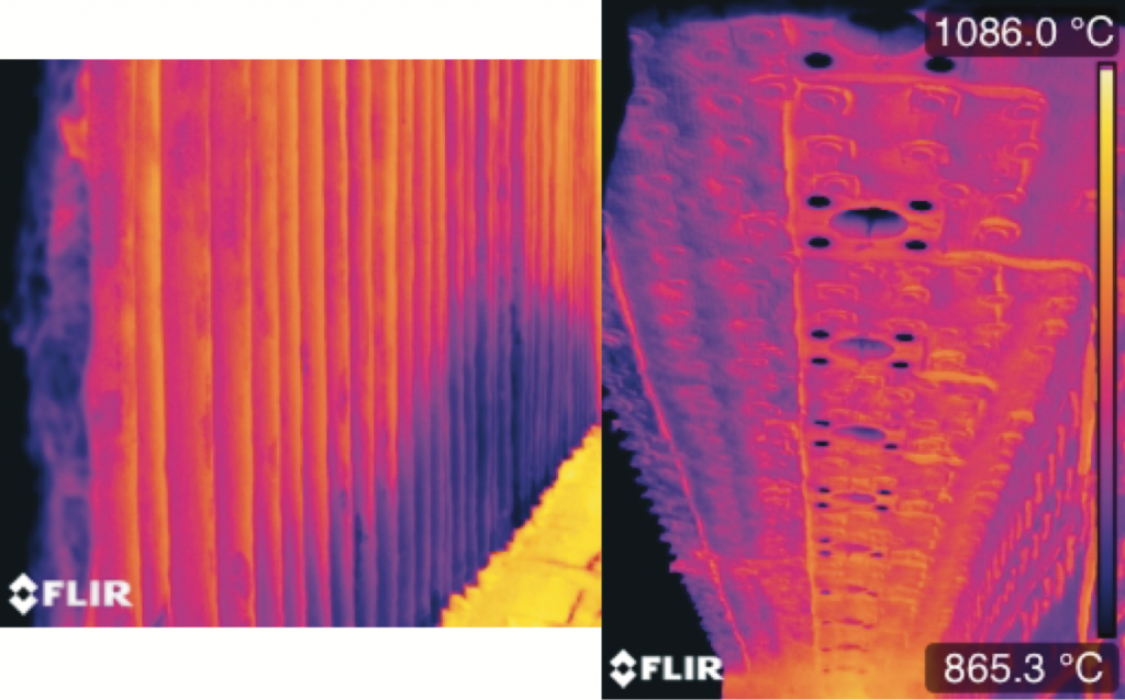 Furnace thermogram